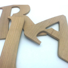 """Cherry wood letters - 1/4"""" thick - MDF Core"""