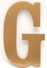 Bronze Sign Letter - Front View