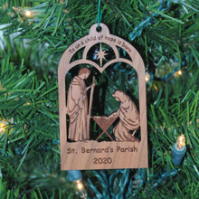 Nativity Ornament - To us a child of hope is born