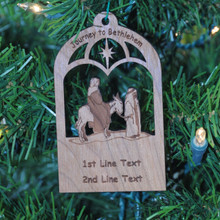 Journey to Bethlehem - Laser Engraved and cut from Cherry.