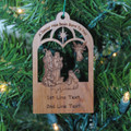 Nativity Ornament - A Savior Has Been Born To You