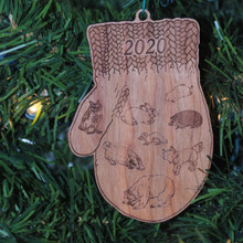 The Mitten -  Laser Engraved and cut from Cherry.