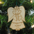 Little Girl Angel -  Laser Engraved and cut from Baltic Birch Plywood.