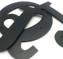 PVC Letters - 1/4 Inch Thick - With Holes | SignFactory.com