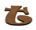 Cardboard Letter - Ravie lowercase T