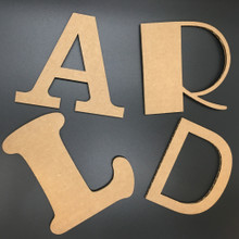 Cardboard Letters - Lightweight, Easy to finish, Easy to mount