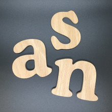 Oak Plywood Letters and Numbers - Cooper Font