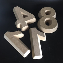 "3/4"" Concrete Tapered Form Letter - Front View"