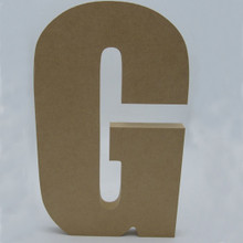 Free Standing MDF Letter - Front  This font is modified so that each letter will stand on its own, without support.  We highly recommend anchoring them with double sided tape, or angle brackets.