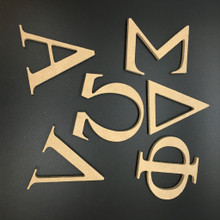 Greek Wood Letters - Indoor / MDF  Made from MDF these Greek wood letters can be painted with household acrylic paints.