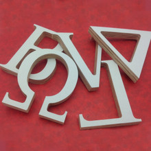 Outdoor Greek Wood Letters - Primed Front Face