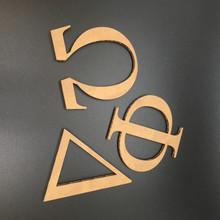 Corrugated Cardboard Greek Letters