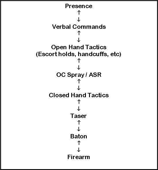 Civilian Use Of Force Continuum Stun Amp Run Self Defense Llc