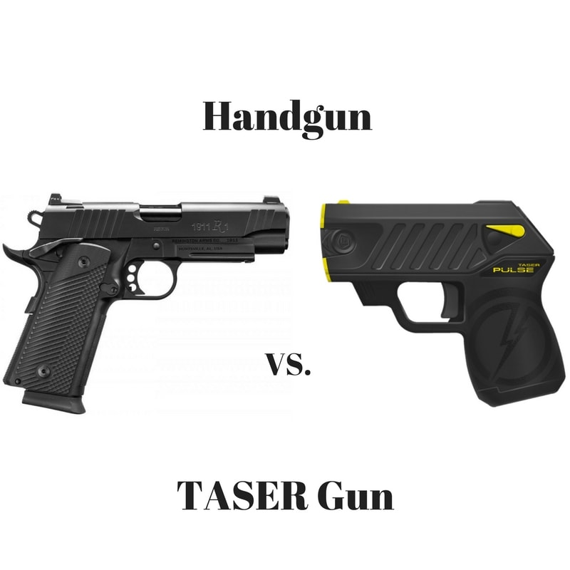 Handgun Vs Taser Gun Which One Is Better For Self Defense