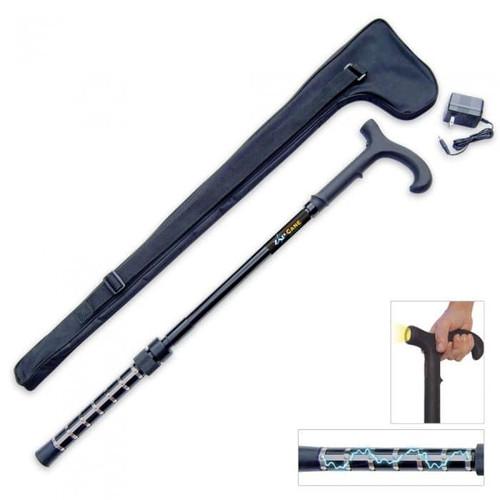 Zap Cane - 1 Million Volt Stun Gun Walking Cane with Flashlight