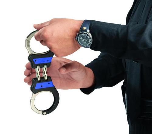 ASP Identifier Ultra Chain Handcuffs Blue