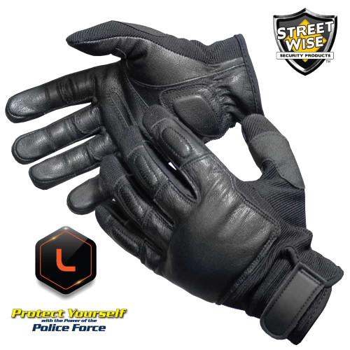 Police Force Steel Shot Sap Gloves