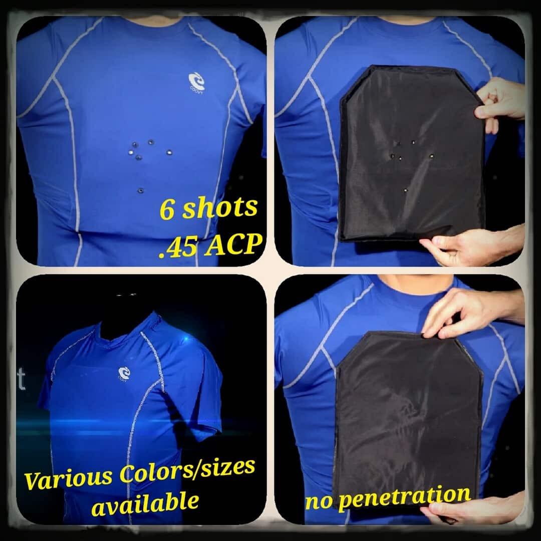 Bulletproof Body Armor Vest Undershirt made withKevlar NIJIIIA Concealabl Safety