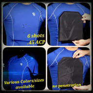Level IIIA Bulletproof Compression Shirt Penetration