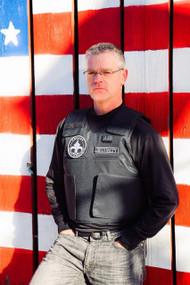 Level IIIA Full-Coverage Security Vest American Flag