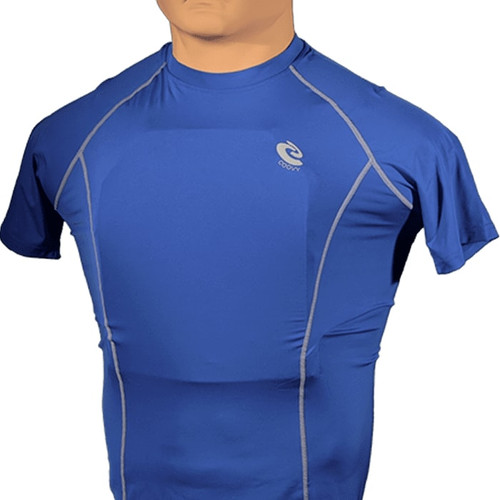 Bulletproof Compression Shirt  - No Armor (4 pocket) Blue