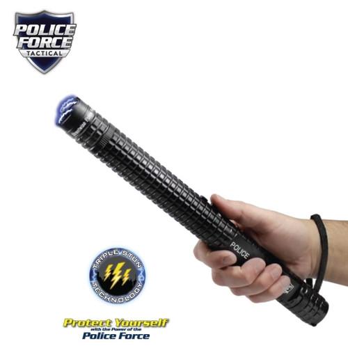 Police Force Tactical Stun Baton Flashlight