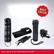 Stun, Spray & Run Self Defense Bundle Best Value
