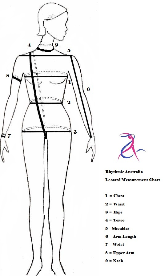 leotard measurement chart