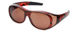 Calabria 7659 Drivers FitOver Sunglasses with Copper Lens Medium Size