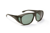 Haven Designer Fitover Sunglasses Summerwood in Black & Polarized Grey Lens (LARGE)
