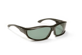 Haven Designer Fitover Sunglasses Hunter in Black & Polarized Grey Lens (LARGE)