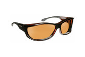 Haven Designer Fitover Sunglasses Foxen in Tortoise & Polarized Amber Lens (MEDIUM/LARGE)
