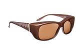 Haven Designer Fitover Sunglasses Morgan in Mocha & Polarized Amber Lens (MEDIUM/LARGE)