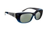 Haven Designer Fitover Sunglasses Morgan in Sapphire & Polarized Grey Lens (MEDIUM/LARGE)
