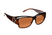 Haven Designer Fitover Sunglasses Stella in Tortoise Chevron & Polarized Driving Lens (MEDIUM/LARGE)