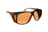 Haven Designer Fitover Sunglasses Banyan in Matte Tortoise & Polarized Amber Lens (XL)