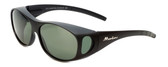 Montana Designer Fitover Sunglasses F01F in Matte Black & Polarized G15 Green Lens