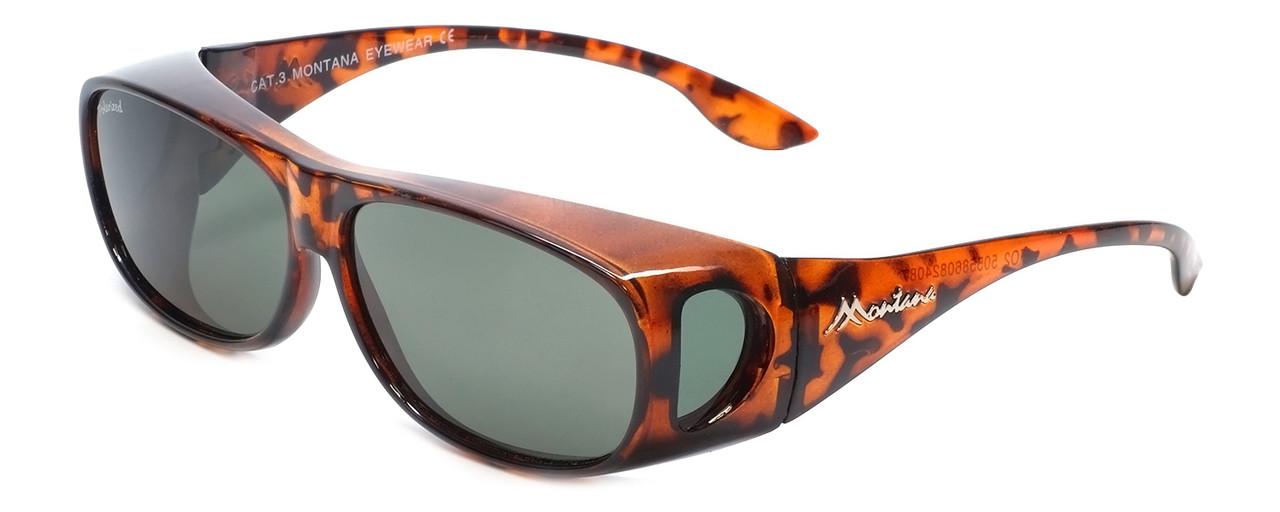 3694384d63 Montana Designer Fitover Sunglasses F02 in Gloss Tortoise   Polarized G15  Green Lens. Image 1. Loading zoom