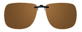 Montana Eyewear Clip-On Sunglasses C11B in Polarized Amber 62mm