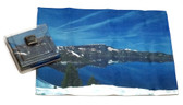 Holiday Christmas Theme Cleaning Cloth, Crater Lake