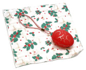Holiday Christmas Theme Cleaning Cloth, The Egg in Red