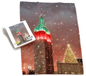 Holiday Christmas Theme Cleaning Cloth, City Lights