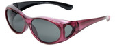 Calabria PC8866POL-CR Polarized FitOver Sunglasses Medium Size