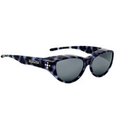Jonathan Paul® Fitovers Eyewear Medium Chic Kitty in Blue Cheetah & Gray CK003S
