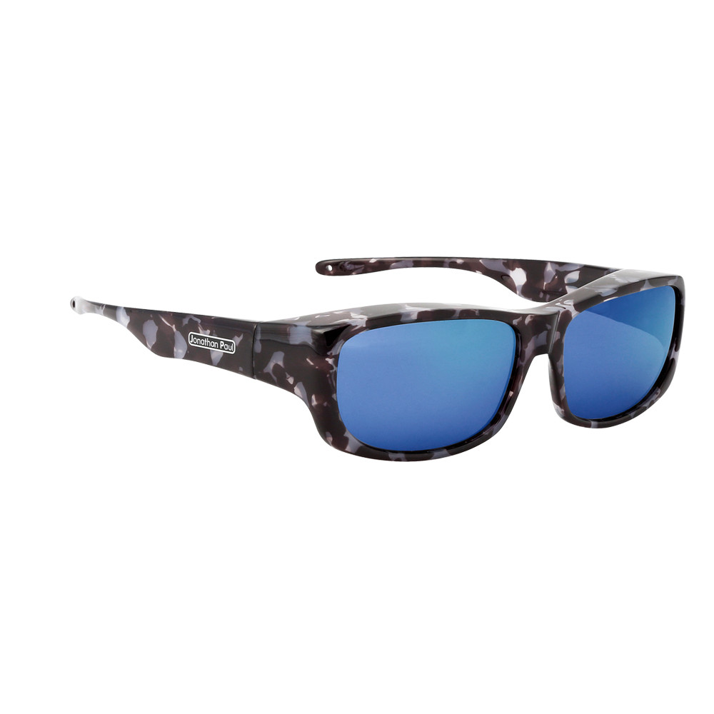 6abbee12b7 ... Eyewear Large Pandera in Black Marble   Blue Mirror PD003BM. Image 1. Loading  zoom. Hover over image to zoom