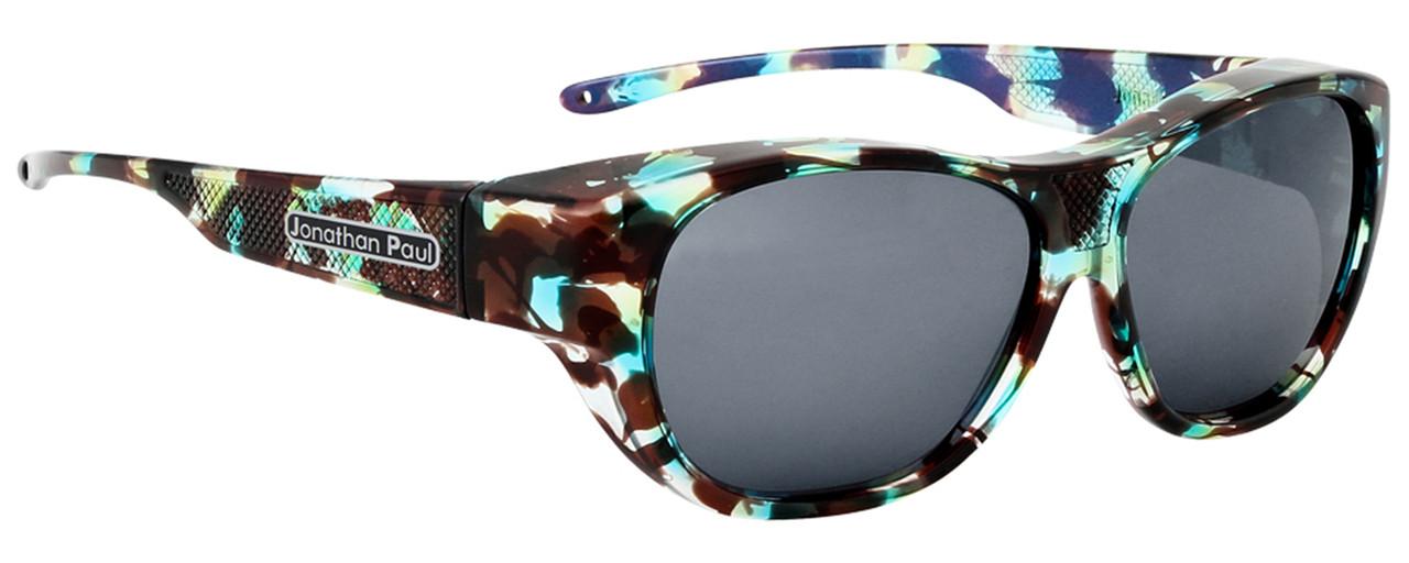 8b5cae38f5c96 Jonathan Paul® Fitovers Eyewear Extra Large Allure in Turquoise Demi   Gray  AU003. Image 1. Loading zoom