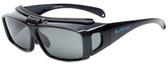 BluWater Polarized Flip-It-GR Fitover Sunglasses in Black