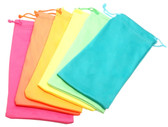 Calabria Neon Color Drawstring Microfiber Soft Cases (12pack)