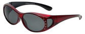 Calabria RS70096POL-CR Polarized FitOver Sunglasses with Rhinestone Medium Size