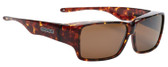 Jonathan Paul Fitovers Oogee Large Polarized Over Sunglasses Tortoise Gold&Brown